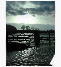 Flooded Field & Road Poster