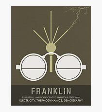 Science Posters - Benjamin Franklin - Scientist, Inventor, Statesman Photographic Print