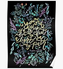 Your Word is a Lamp - Psalm 119:105  Poster