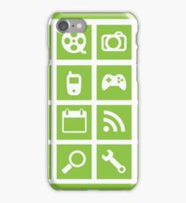 Web icon graphics (green) iPhone Case/Skin