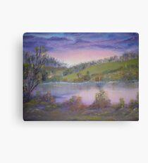 The Lake at Twilight Canvas Print