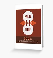 Science Posters - Kurt Godel - Mathematician, Logician Greeting Card