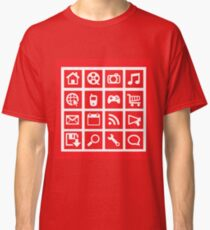 web icon graphics (red) Classic T-Shirt