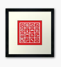 web icon graphics (red) Framed Print