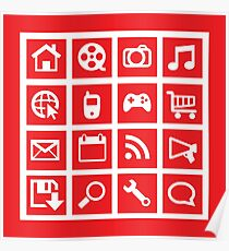 web icon graphics (red) Poster