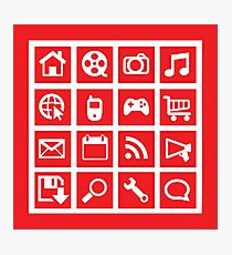 web icon graphics (red) Photographic Print