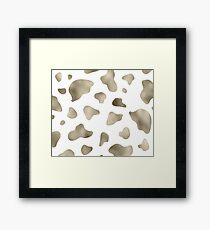 Golden cow print Framed Print