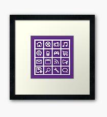 Web icon graphics (purple) Framed Print