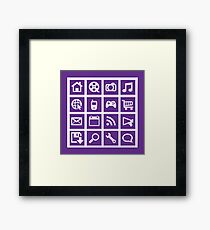 Web icon graphics (purple) Framed Print