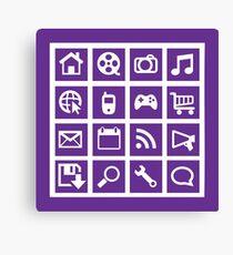 Web icon graphics (purple) Canvas Print