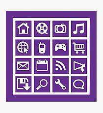 Web icon graphics (purple) Photographic Print
