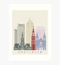 Amsterdam V2 skyline poster Art Print