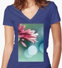 Nature's Dreaming Women's Fitted V-Neck T-Shirt