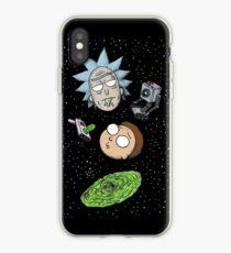 Vinilo o funda para iPhone Rick y porty cabezas de portal