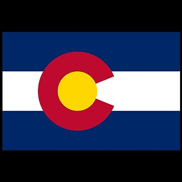 Colorado USA State Flag Bedspread T-Shirt Sticker by deanworld