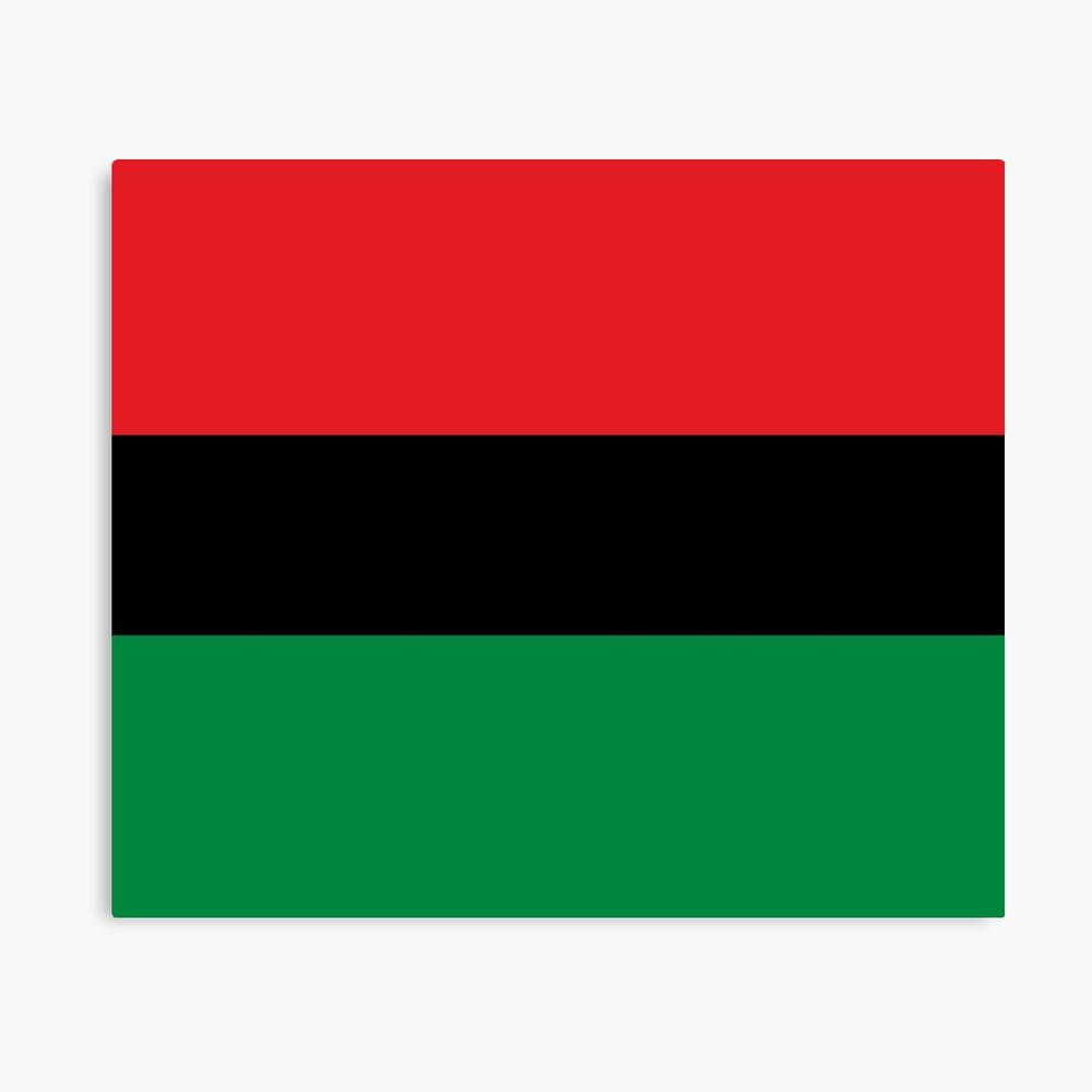 Pan African Flag T-Shirt - UNIA Flag Sticker - Afro American Flag Canvas Print