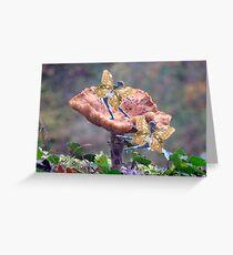 Fairies on fungus Greeting Card