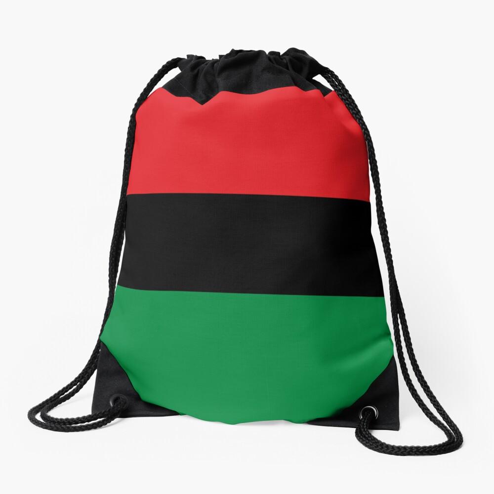Pan African Flag T-Shirt - UNIA Flag Sticker - Afro American Flag Drawstring Bag