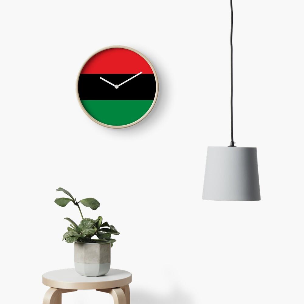 Pan African Flag T-Shirt - UNIA Flag Sticker - Afro American Flag Clock