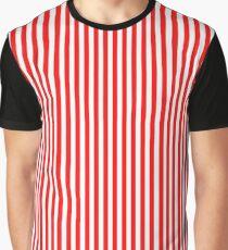 Rot und weiß gestreiften abnehmen kleid Grafik T-Shirt