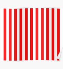 Red and White Striped Slimming Dress Poster