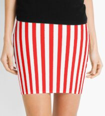 Red and White Striped Slimming Dress Mini Skirt