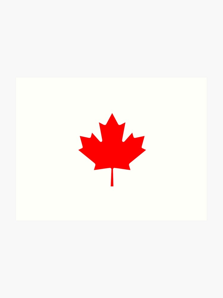 7bc7d8766f4e Canadian Flag - National Flag of Canada - Maple Leaf T-Shirt Sticker Art  Print