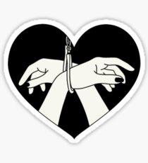 HAND HEART Sticker