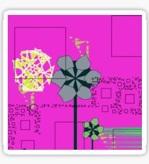 Flowers and squares Sticker