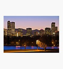 Denver Skyline - City Park View Photographic Print