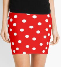 Polka Dot Bedspread Mini Skirt