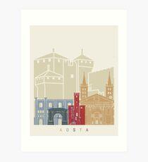 Aosta skyline poster Art Print