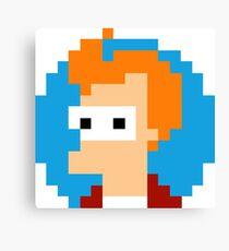 Pixel Fry Futurama Canvas Print