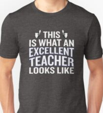 This Is What An Excellent Teacher Looks Like Funny Unisex T-Shirt