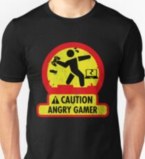 Caution Angry Gamer - Gaming t shirt Unisex T-Shirt