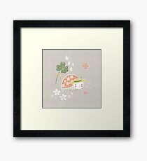 Little Miss Ladybug Ladybird by Katy Bloss Framed Print