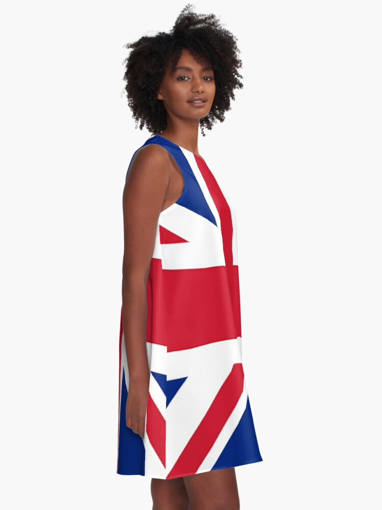 Alternate view of Union Jack 1960s Mini Skirt - Best of British Flag A-Line Dress
