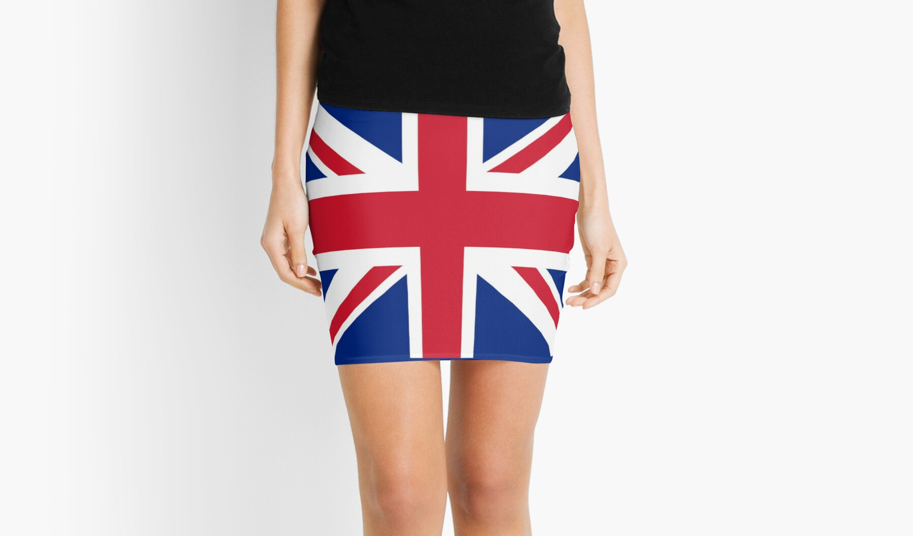 Union Jack 1960s Mini Skirt - Best of British Flag by deanworld