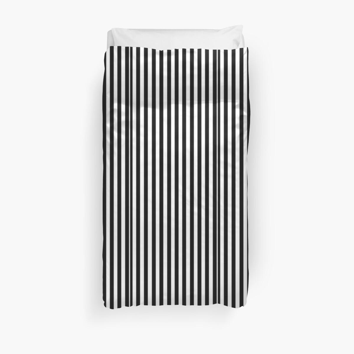Black White Striped Pillow Cushion Cover Skirt by deanworld