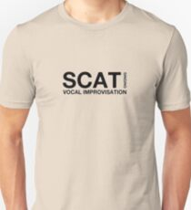 Scat singing black color Unisex T-Shirt