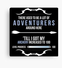 There used to be a lot of adventurers here... Canvas Print