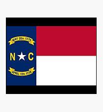 North Carolina USA State Charlotte Flag Bedspread T-Shirt Sticker Photographic Print