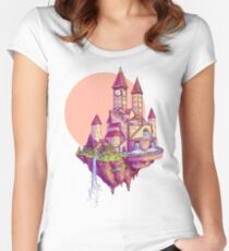 Floating Castle Women's Fitted Scoop T-Shirt