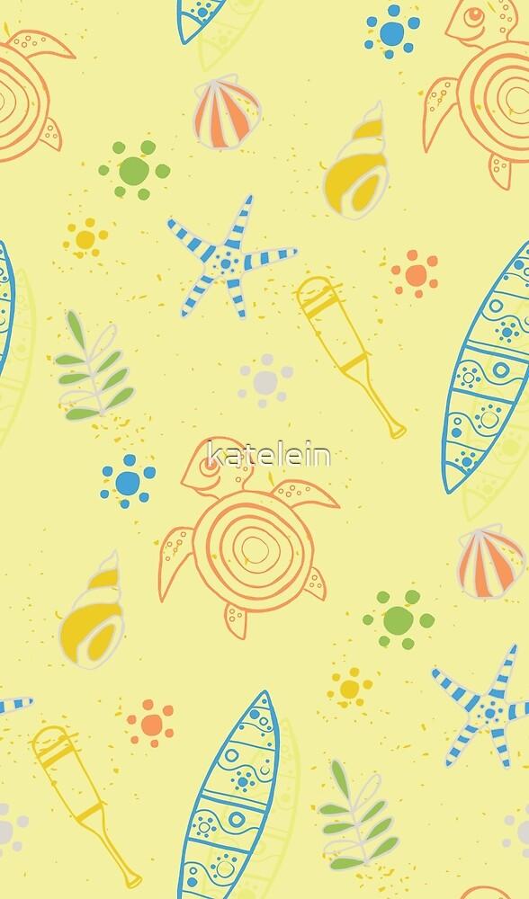 Beach & Surf Pattern by katelein