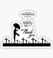 memorial - Thank you Sticker