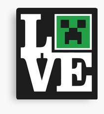 Love Minecraft Canvas Print