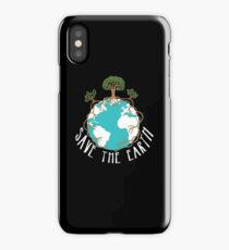 Save The Earth Protect Eco Environmental Design iPhone Case/Skin