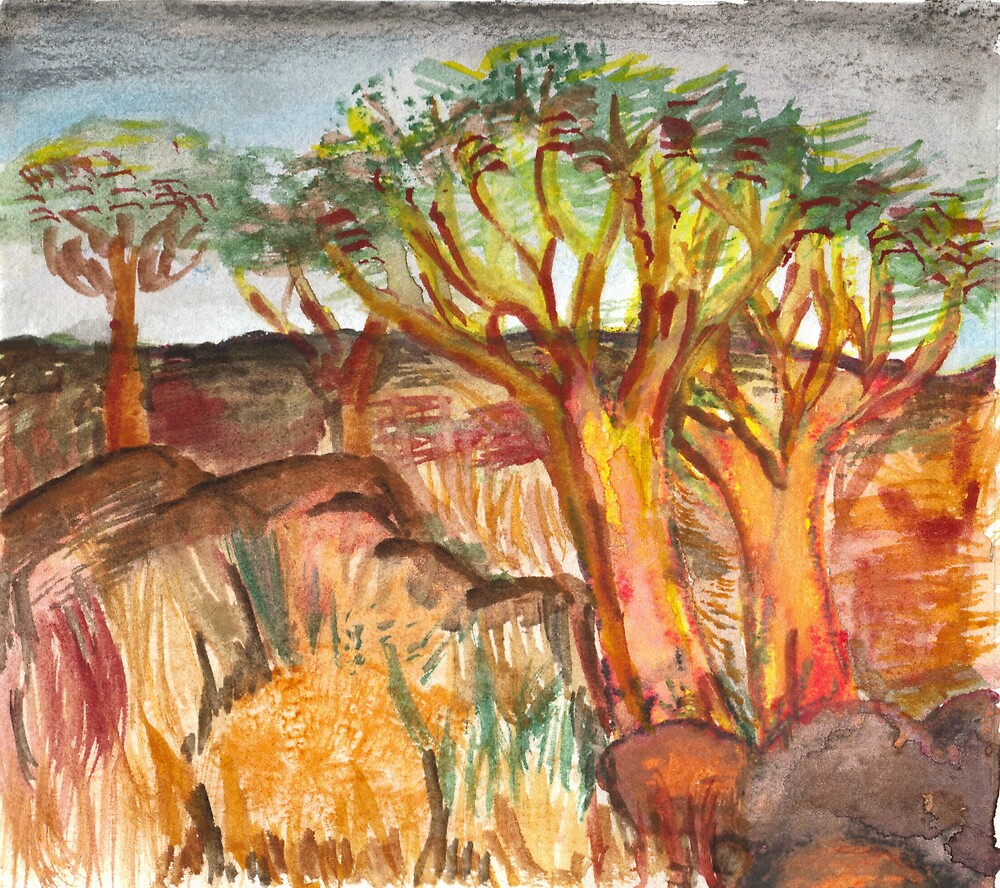 An African Watercolour by Stephanie Nienaber