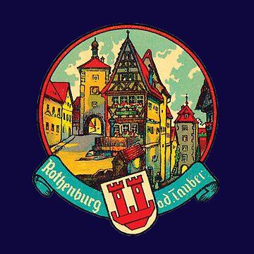 Vintage Rothenburg ob der Tauber Germany by Drewaw