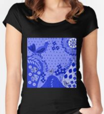 Pattern D 4 Women's Fitted Scoop T-Shirt